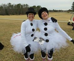 cute snowman/snowwoman running costume with tutu!