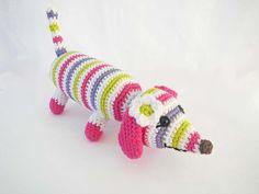 Crochet Toy Dog  Amigurumi Dachshund