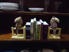 miniature bookend and books 112 scale by MINISSU on Etsy, $4.99