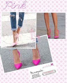 SEGUNDA colorida! PiNk💕 Pink! Toque de FASHIONISMO em seu look.   Vamos dar um UP em qualquer look ! Confira as sugestões : 1. Vestido listrado PB +scarpin pink  2. Calça jeans +tee + scarpin pink   #colors #pink