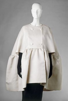 Evening cape Place of origin: Paris, France (made) Date: February 1963 (made) Artist/Maker: Cristóbal Balenciaga, born 1895 - died 1972 (...