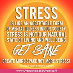 Create more space, not more stress!