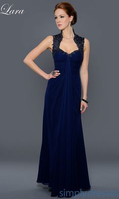 Dress, Elegant Full Length Formal Gown -