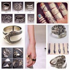 Diy Projects: DIY Recycle Old Forks Into Rings And Bracelets