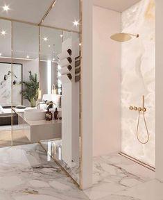 Luxury Bathroom Design Ideas With Best Marble Tile Interior Design Magazine, Decor Interior Design, Interior Design Living Room, Living Room Decor, Luxury Interior, Marble Interior, Luxury Decor, Interior Modern, Home Interior