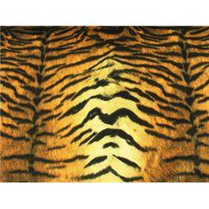Orange/Gold Tiger Upholstery Plush Velvet - Sy Fabrics
