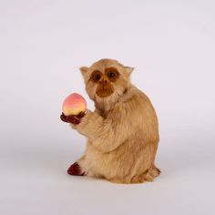 >> Click to Buy << cute simulation monkey toy handicraft lifelike monkey doll hold a peach gift about 16x12x20cm #Affiliate