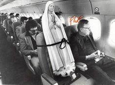 Virgin Mary on a plane