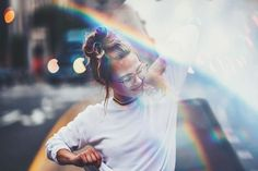 Brandon Woelfel Rainbow portait prism