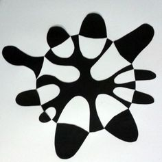 Positive & Negative Shapes - Cut Paper Abstract Art