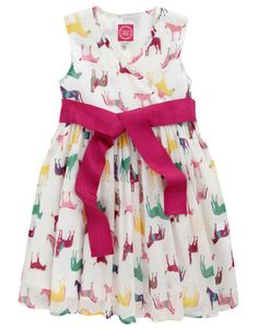 Joules Girls' Croquet Dress Crème N Jnrcroquet | Can't get of these Joule dresses. Love this fabric.