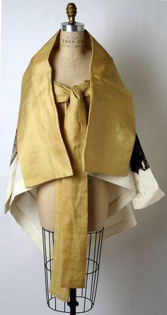 Jacket Issey Miyake (Japanese) ca. spring/ summer 1997 silk, linen/ nylon blend, cotton