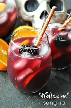 """This delicious and easy """"Hallowine"""" Sangria is the perfect addition to any grown-up gathering this season!"""