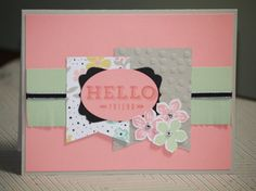 One Handmade Thinking of You Card Hello Friend by strandedpaper