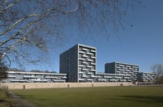 Completed in 2013 in Den Haag, The Netherlands. Images by Peter de Ruig             . Senior Housing De Componist  The large housing block 'De Componist', designed by HVE Architecten, is situated in a park area. The green-grey slate...