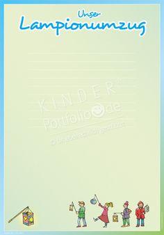 """Kindergarten Portfolio Vorlagen """"Unser Lampionumzug"""""""