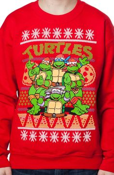 ninja turtles ugly sweatshirt