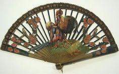 >y< Chantecler Fan, France, 1910 Antique Fans, Vintage Fans, Hand Held Fan, Hand Fans, Chinese Fans, Vintage Outfits, Vintage Fashion, Hot Flashes, Belle Epoque