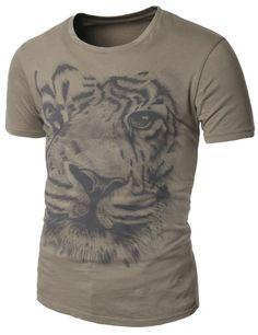 Mens Fashion Vintage Graphic T-shirts doublju (AMTTS022)