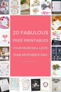 Click through to discover 20 fabulous free Mother's Day printables your mum will definitely love! What did you get her this year?