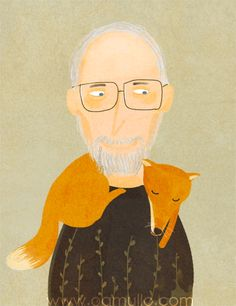 fox, Illustration by Oamul Lu