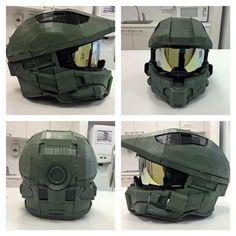 Maker designs 3D-printed Master Chief Halo 4 helmet