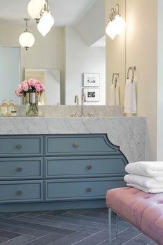 Pink and Blue Bathroom with Lucite Bench - Contemporary - Bathroom Luxury Interior Design, Interior Design Services, Home Design, Interior Design Portfolios, Home Luxury, Luxury Homes, Dream Decor, Bathroom Inspiration, Design Inspiration
