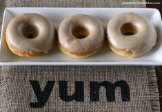 YUM Maple donuts that are gluten-free and dairy-free. These tasted like they came from a donut shop!