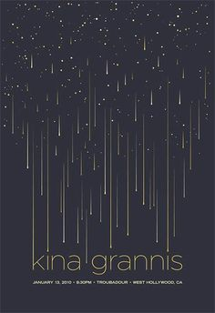 Modern Poster Designs for Inspiration.also big fan of Kina Grannis :) Creative Poster Design, Creative Posters, Graphic Design Posters, Graphic Design Illustration, Poster Designs, Simple Poster Design, Star Illustration, Layout Design, Graphisches Design