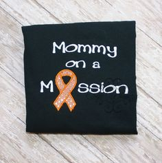 Mommy awareness shirt by sewwhimzy on Etsy Personalize w/ Ribbon Color! Autoimmune Disease Awareness, Childhood Cancer, Ribbon Colors, Shirt Ideas, Applique, Gold, Shirts, Etsy