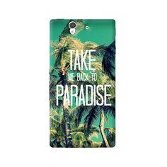 Take Me Back To Paradise Sony Xperia Z Case from Cyankart
