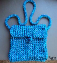 Loom knitting  - messenger bag