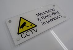 Office signs - cctv monitoring signs http://www.de-signage.com/Officesigns.php