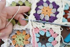 Crochet an Organic Cotton Granny Square Baby Blanket – Part 2: Joining the Squares & Finishing