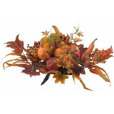 Nearly Natural Harvest Centerpiece ($63) ❤ liked on Polyvore featuring home, home decor, floral decor, flowers, autumn, fall, backgrounds, filler, fall centerpieces and flower home decor