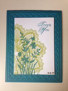 Thank You Doily Card with Stampin Up (We need to try out your doily stamp!)