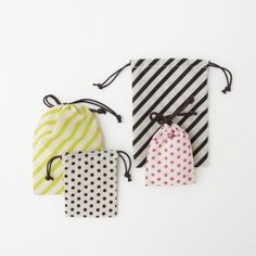 Striped and Dotted Bags~