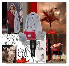 """""""Red autumn"""" by cybelfee ❤ liked on Polyvore featuring Holding Horses, Paige Denim, Barbara Bui, Casadei, Dolce&Gabbana, Erika Cavallini Semi-Couture and Calypso St. Barth"""