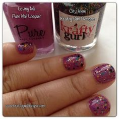 Nail art for short nails Krafty Gurl: Swatch and Review, Pure Nail Lacquer - Loving Me