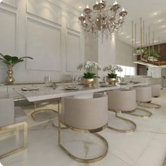 nice house interior dream homes Elegant Dining Room, Luxury Dining Room, Dining Room Design, Dining Rooms, Luxury Home Decor, Home Decor Kitchen, Home Decor Inspiration, Modern Lighting, Lighting Design