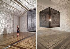 Intersections installation by Anila Quayyum Agha, Grand Rapids   Michigan installation exhibition