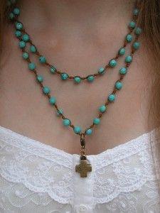 Wrap bracelet worn as Necklace with Classic Legacy charm