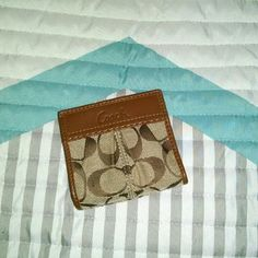 Authentic Coach Wallet Small Authentic Coach Wallet. Small wear spot on the front. Great condition!! Coach Bags Wallets