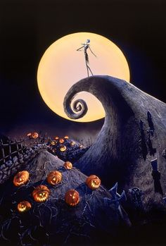 """Arguments with Tim Burton, alternate endings, and other secrets of the beloved stop-motion musical """"Nightmare Before Christmas,"""" which has become an """"inexplicable"""" Halloween fixture. Nightmare Before Christmas Wallpaper, Nightmare Before Christmas Halloween, Halloween Ghosts, Fall Halloween, Happy Halloween, Disney Halloween, Halloween Songs, Halloween Garland, Halloween Magic"""