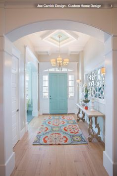 My dream home! House of Turquoise: Highland Custom Homes door color perfection. Just sayin' House Styles, House Design, Interior Design, House Interior, Home, Custom Homes, House, Entryway Decor, New Homes