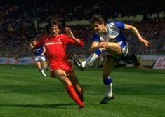 Liverpool 3 Everton 1 in May 1986 at Wembley. Gary Lineker shoots for goal in the FA Cup Final. Merseyside Derby, Fa Cup Final, Everton, Finals, Nostalgia, Football, Running, American Football