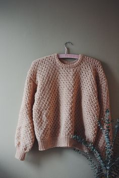 Mors Popcorn Bluse opskrift fra A Nordic Knitting Tale