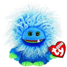 Ty Frizzys Fang Beanie Blue Plush Toy