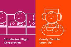 """Unser neuestes Comic aus der Reihe """"Start-up vs Coporate"""""""