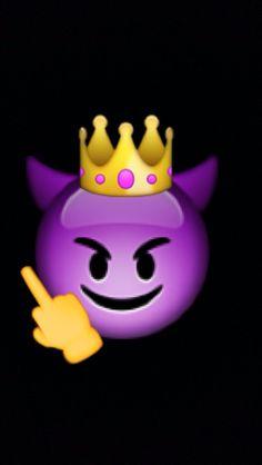 "Devil King ""fuck your mother"" Emoji Wallpaper Iphone, Cute Emoji Wallpaper, Mood Wallpaper, Cute Wallpaper Backgrounds, Tumblr Wallpaper, Aesthetic Iphone Wallpaper, Galaxy Wallpaper, Disney Wallpaper, Cute Wallpapers"